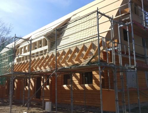 Blockhaus Bau im Spreewald