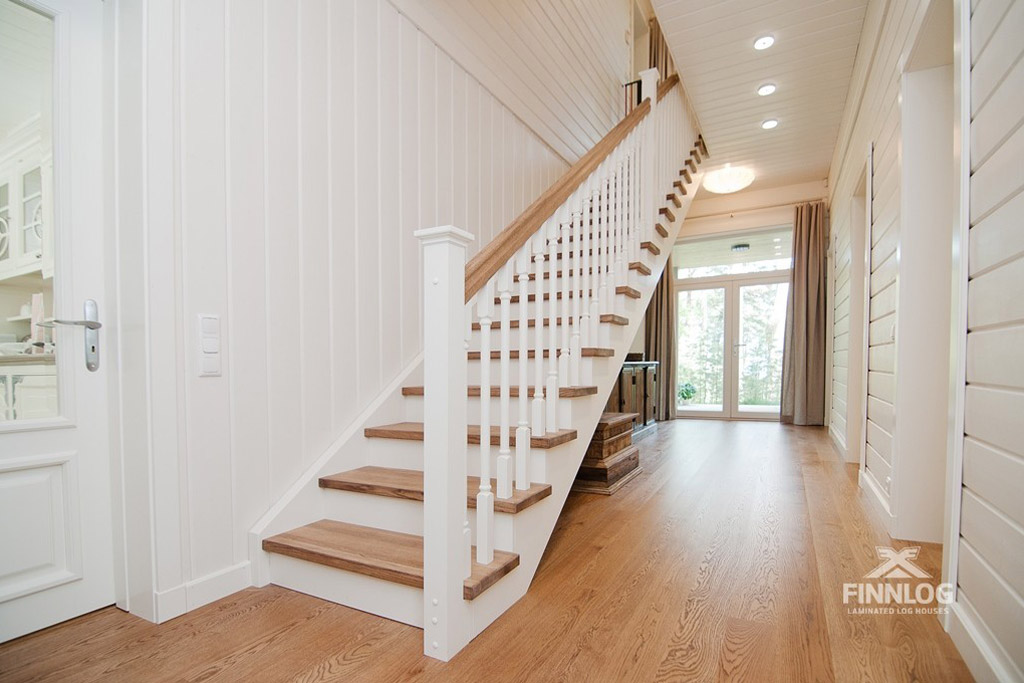Andromeda Blockhaus - Treppenaufgang