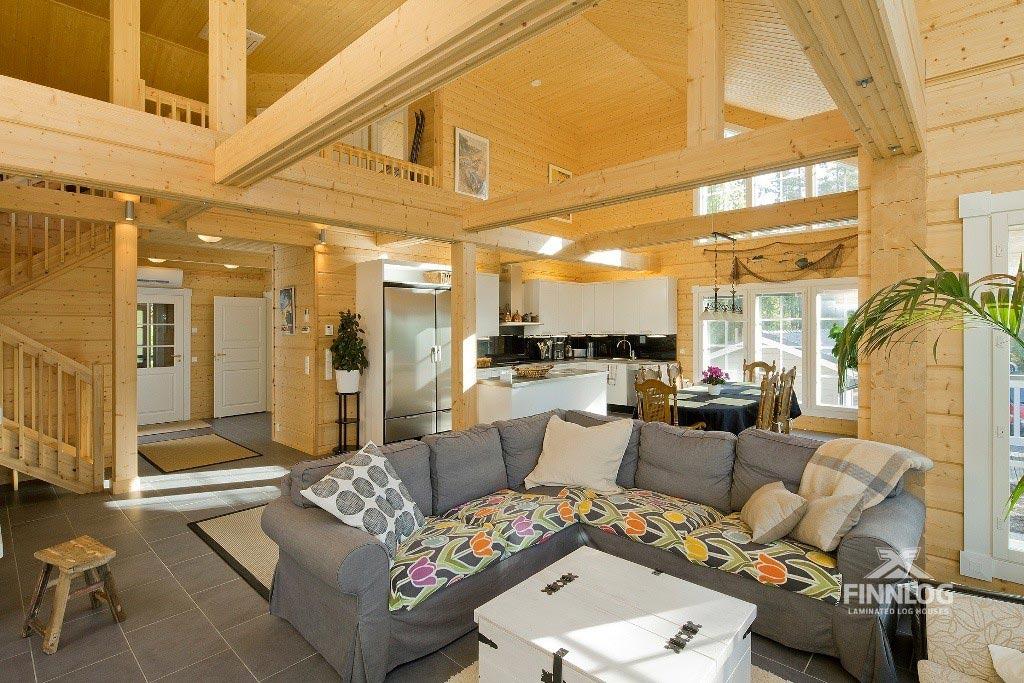 Lyra Blockhaus - Wohnbereich