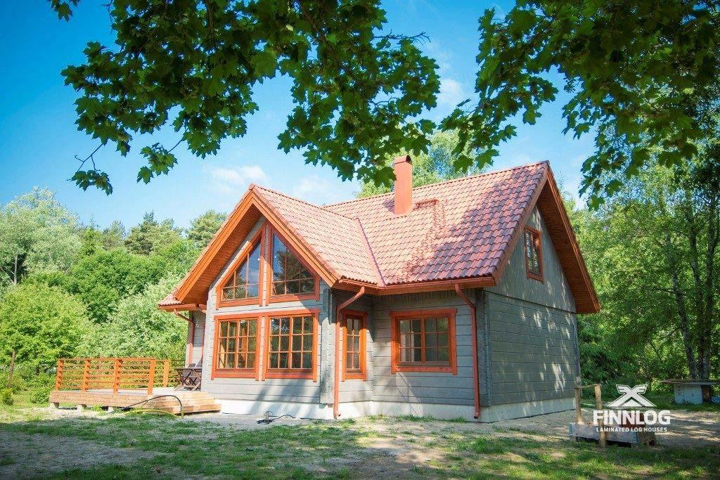 Aurora Blockhaus mit Terrasse