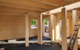 Holzhaus bauen - Rohbau