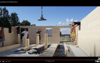 Blockhaus bauen Tag 1