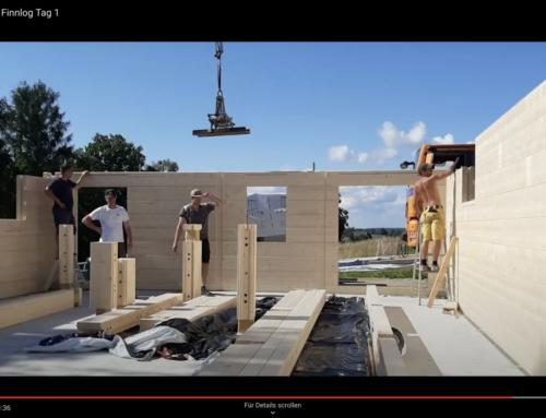 Blockhaus bauen mit Finnlog – Tag 1